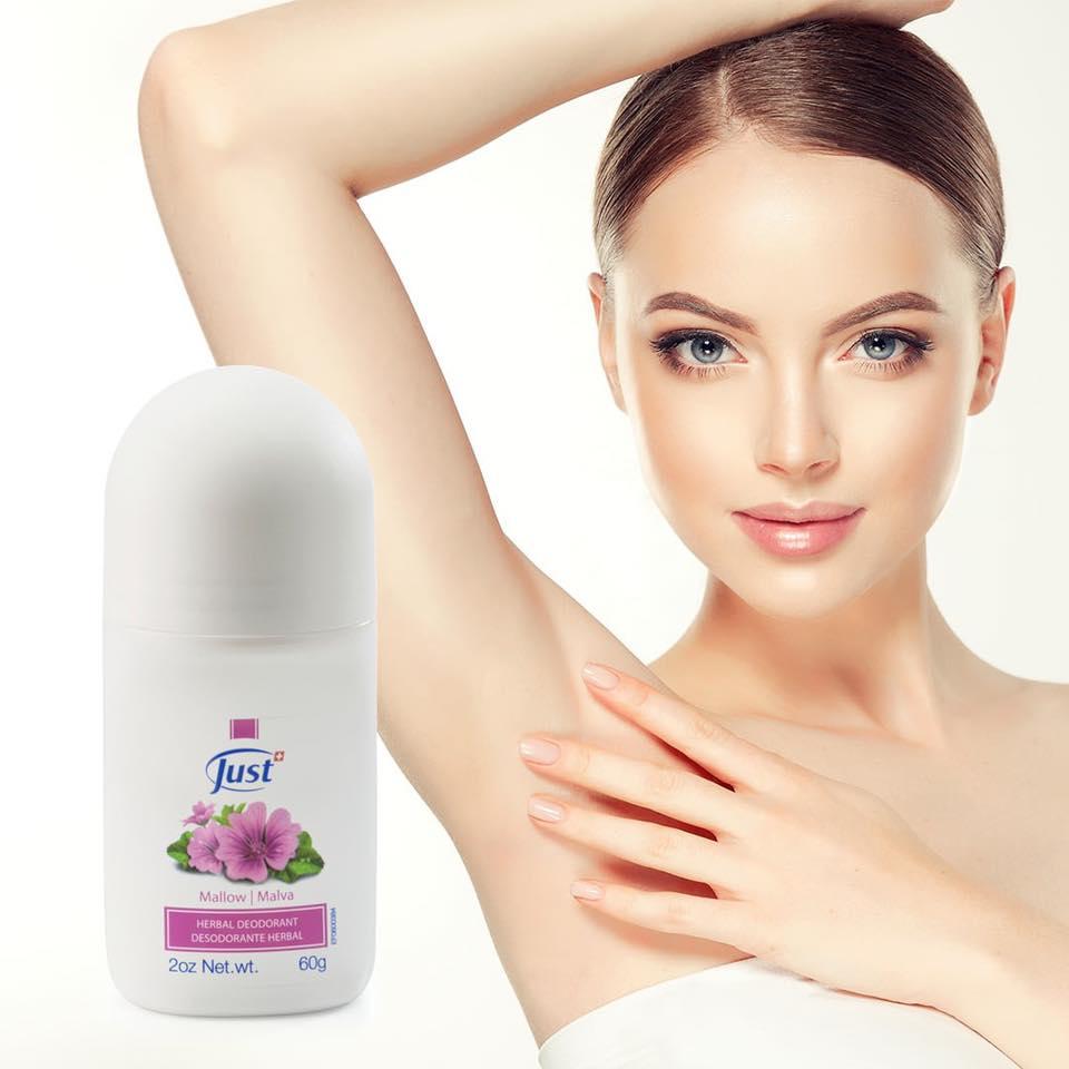 #TipSwissJust  Desodorante de Malva  * Reduce la sudoración sin afectar el PH natural de la piel. * Efecto antitranspirante que previene la generación de bacterias. * Protección efectiva durante todo el día. * Refresca y desodoriza la piel con un suave y delicado aroma.