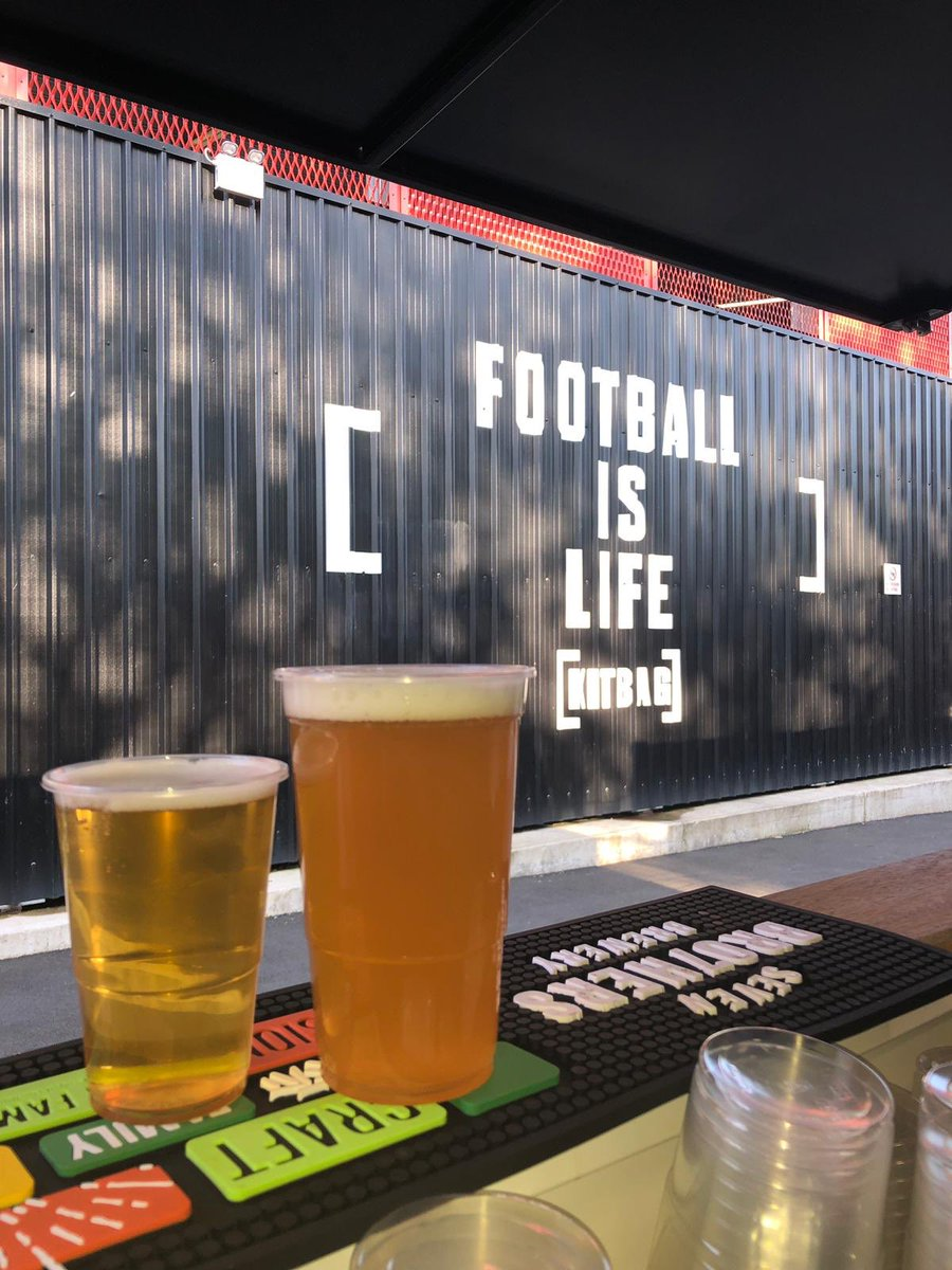 We're back in the west stand  #kbfanzone at  @SalfordCityFC for the @SkyBetLeagueTwo action on Saturday against @leytonorientfc   #craftbeer #salfordcityfc #sevenbro7hers   #WeAreSalford 🦁🔴 https://t.co/JY1W2jOwvo