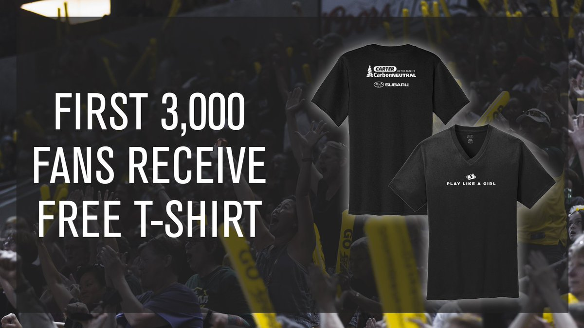 Headed to Fan Appreciation night this Sunday?  👚Be one of the first 3,000 fans and receive this 𝐹𝑅𝐸𝐸 t-shirt courtesy of @CarterSubaru 👚  #WeRepSeattle https://t.co/9ZpN5RmdeI