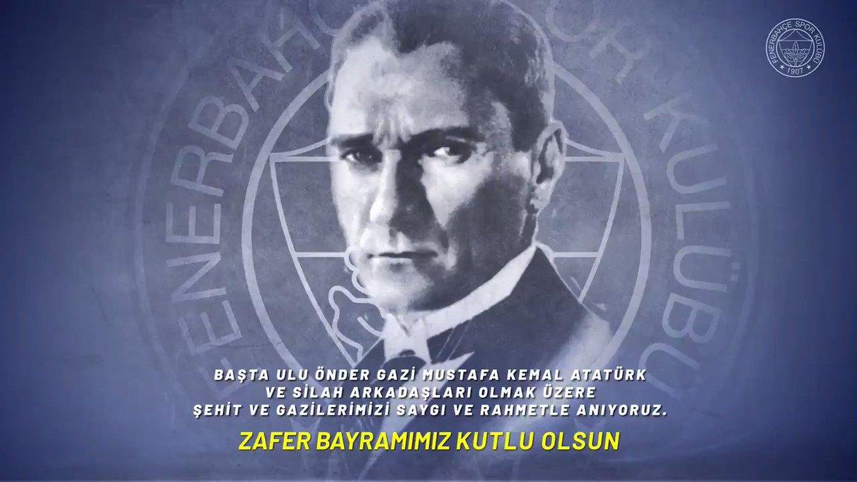 RT @Fenerbahce: Gurur ve onur dolu zaferimizin 97. yılı kutlu olsun! 🇹🇷 #30Ağustos https://t.co/GHSXYbUM9l