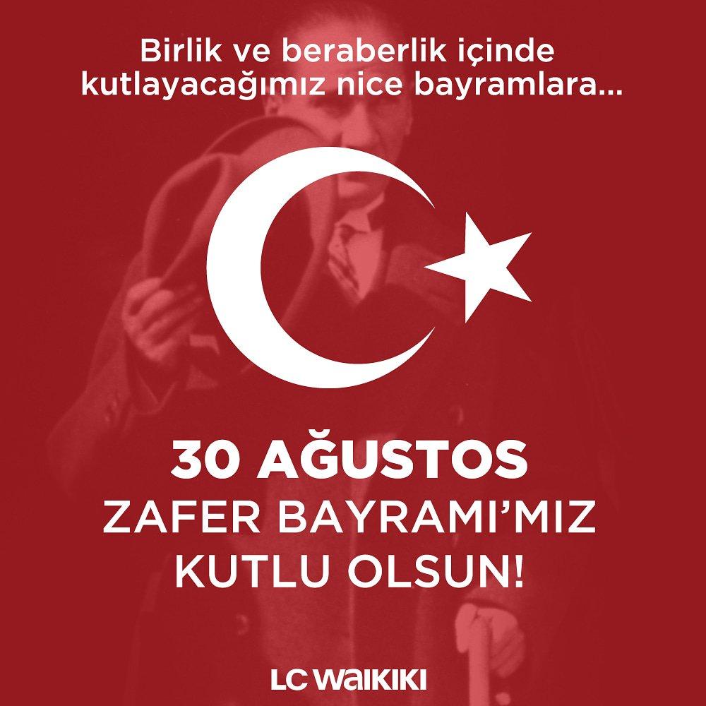 30 Ağustos Zafer Bayramımız Kutlu Olsun! 🇹🇷 #30ağustoszaferbayramı #lcwaikiki https://t.co/MRP8Q36eBc