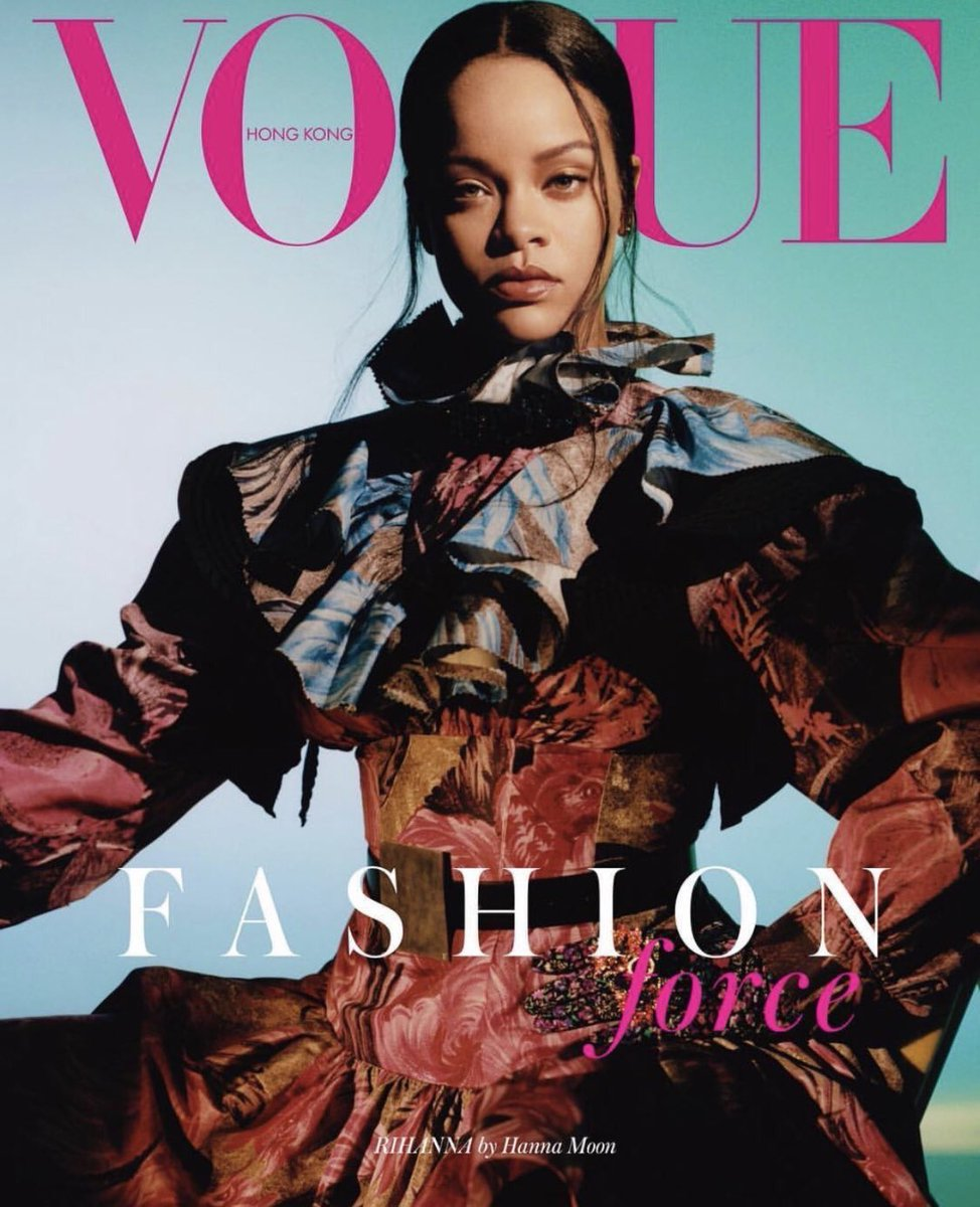 Rihanna on the September Issue of Vogue Hong Kong. Wearing Louis Vuitton Fall 2019. Photographed by Hanna Moon.