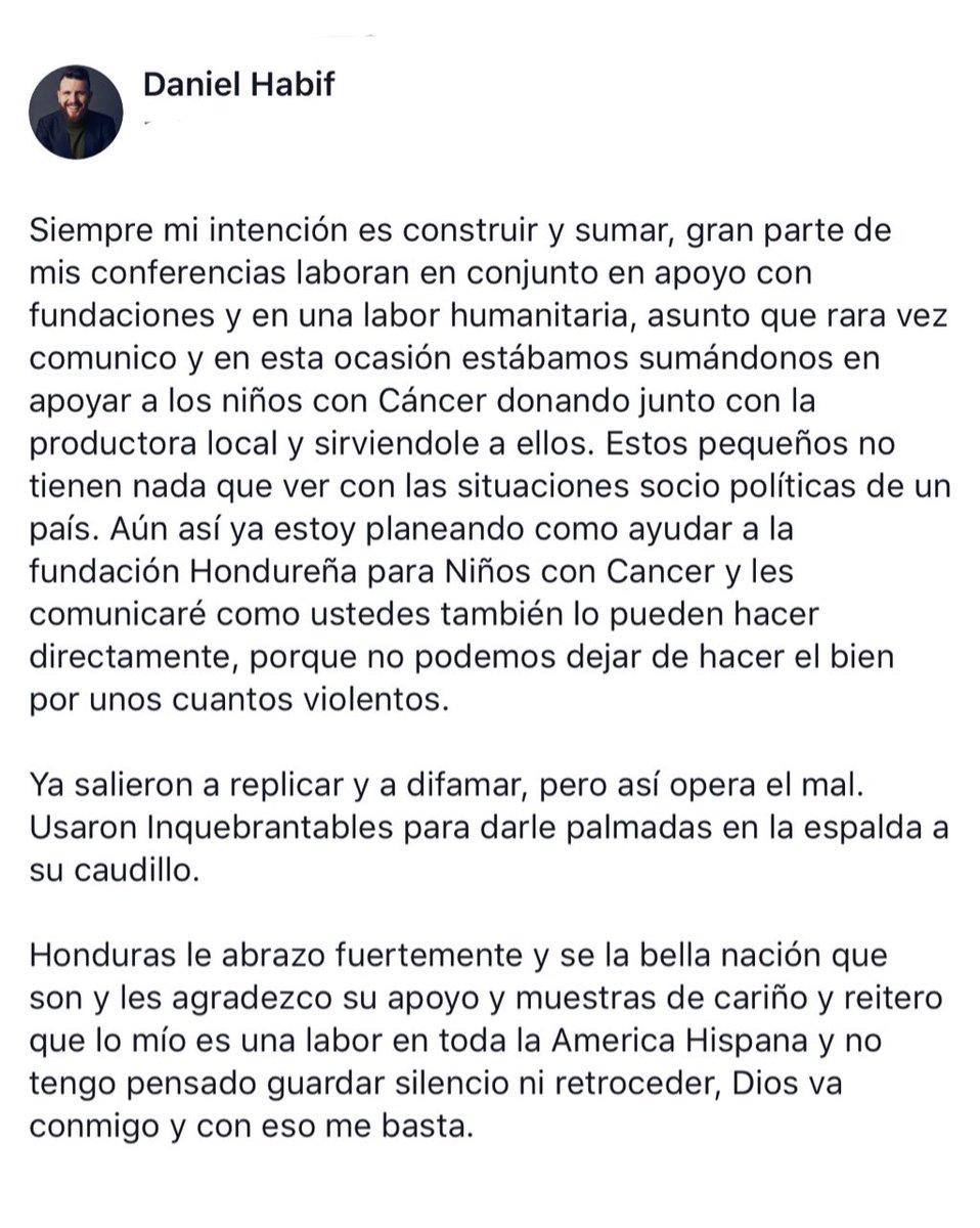 ¡Lo Último! Declaran persona non grato en Honduras al conferencista Daniel Habif por criticar a Juan Orlando Hernández. . . #modahonduras #calle7honduras #honduraspost #prayforhonduras #conocehonduras #hondurasisgreat #roatanhonduras #prilaga #hondurascoffee #vivahonduras