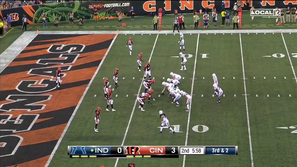 Chad Kelly punches it in for six! #INDvsCIN 📺 @Fox59