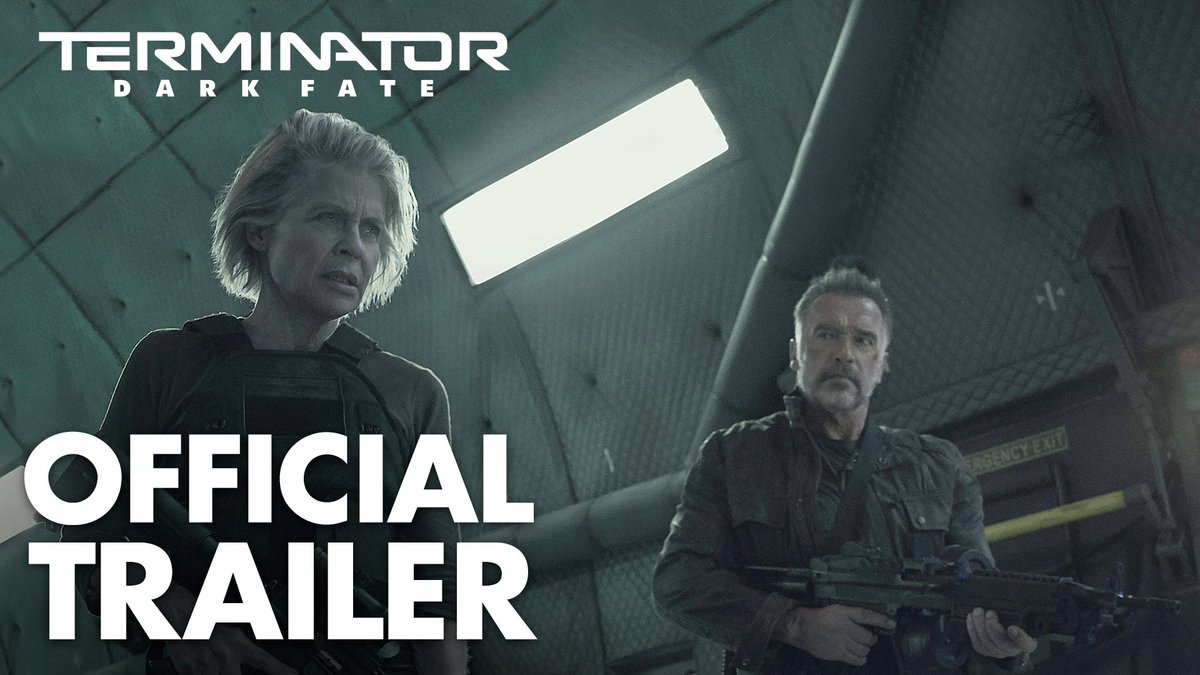 Watch the official trailer for #TerminatorDarkFate and 🖤 this Tweet to be the first to see exclusive content before anyone else. Stay tuned for updates leading to premiere day 11.1.