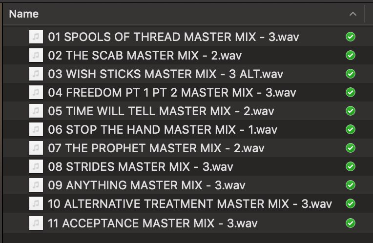 Mixes are done. Still needs mastering. Freedom is actually 2 songs so it'll be 12 total. There are 4 tracks that I wound up getting rid of at different stages of production because they didn't come together the way I wanted them to. Will likely try them again in the future. https://t.co/2bctoOYFzI