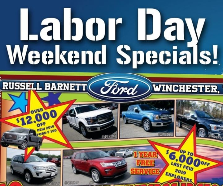 Russell Barnett Ford >> Russell Barnett Ford On Twitter Labor Day Weekend Specials