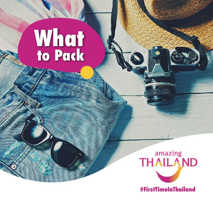 #FirstTimeInThailand Not sure what to pack? Pack lightly, camera, sunnies, comfortable shoes, and yourself! Tell us what you think is an essential when packing for Thailand and you could win a Simply Asia voucher for TWO! Final winner announced on Monday! pic.twitter.com/98gsgBKXLU