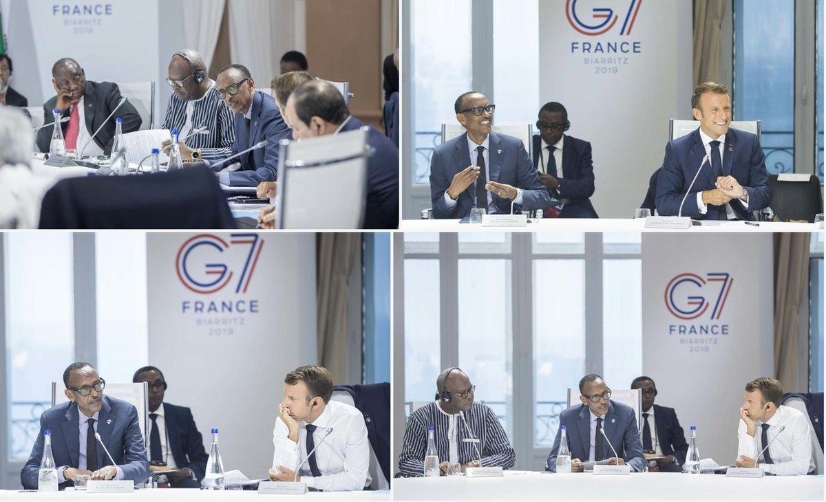 """God in whom we believe did not create people so that they become servants of others and I will fight for my people not to be exploited as servants. By people I am not only referring to Rwandans but to the people of Africa""  President #Kagame #G7Biarritz <br>http://pic.twitter.com/TigKbYxehB"