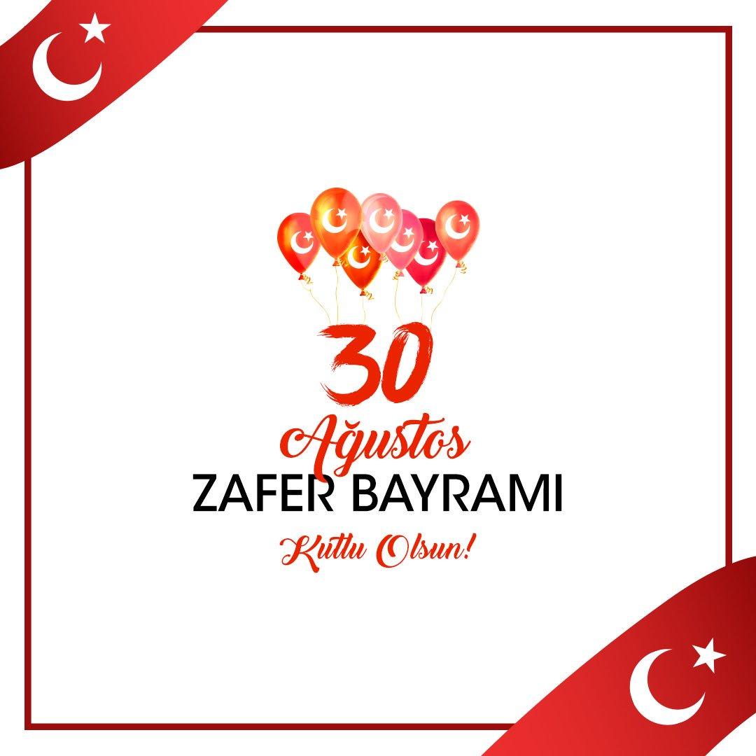 30 Ağustos Zafer Bayramımız kutlu olsun! https://t.co/wkKyBLvsPD