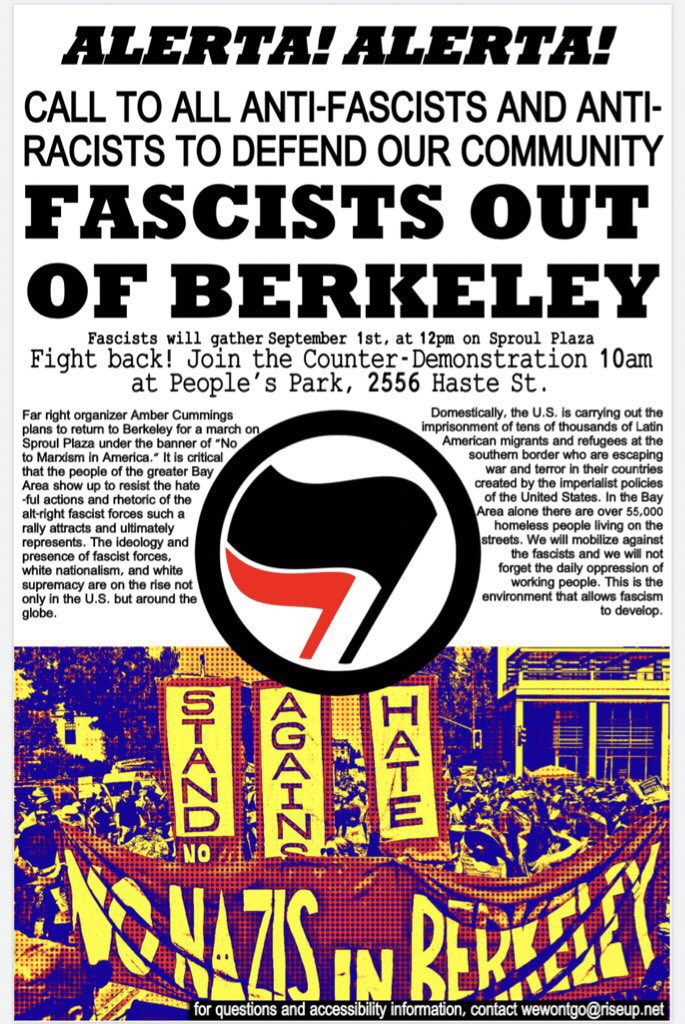 Fascists Out of Berkeley! @ People's Park