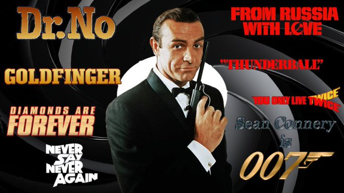 A Happy 89th Birthday to the greatest Bond of them all, Sir Sean Connery.