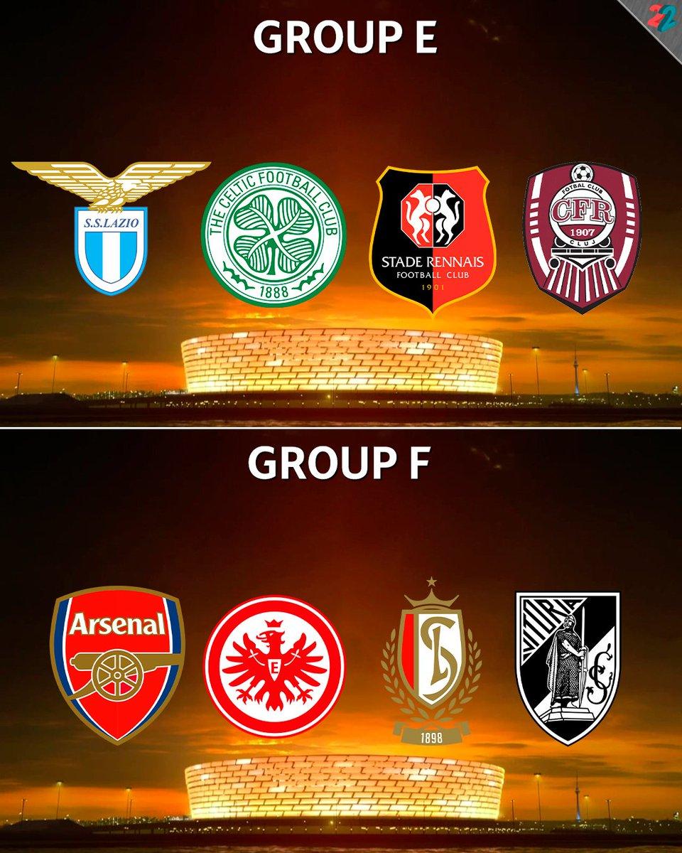Europa League Draw Results Efgh Groups Football Fussball