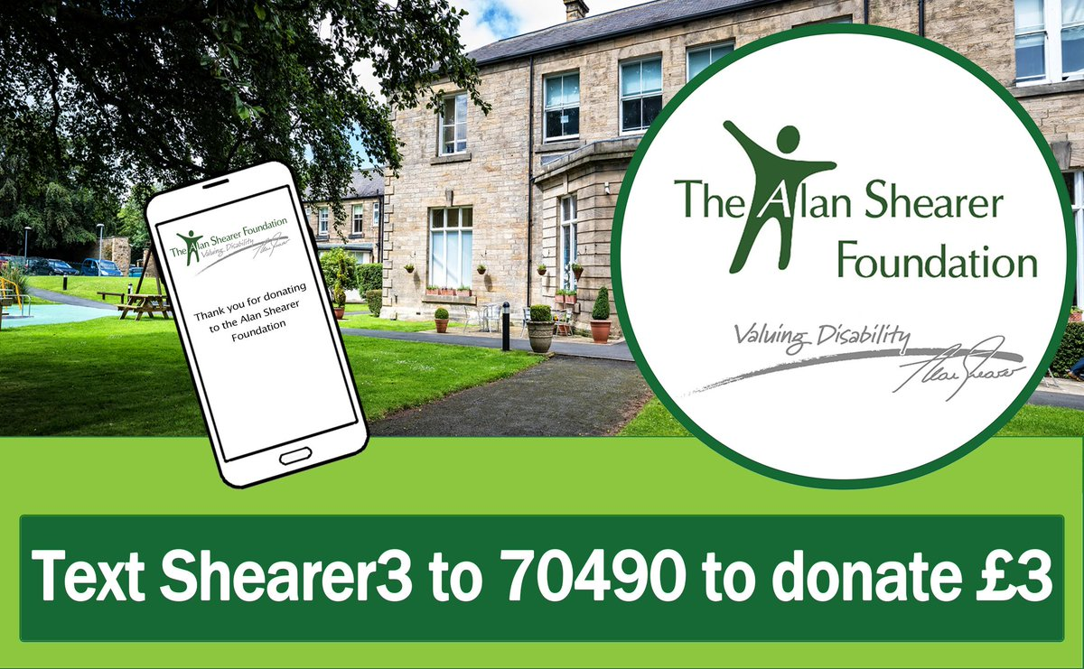 Did you know you can support us by donating via text? To make a donation, text SHEARER3 to 70490 to donate £3. This costs £3 plus a standard rate message. Alternatively, you can opt to give any whole amount up to £20. Thank you! #CharityTuesday