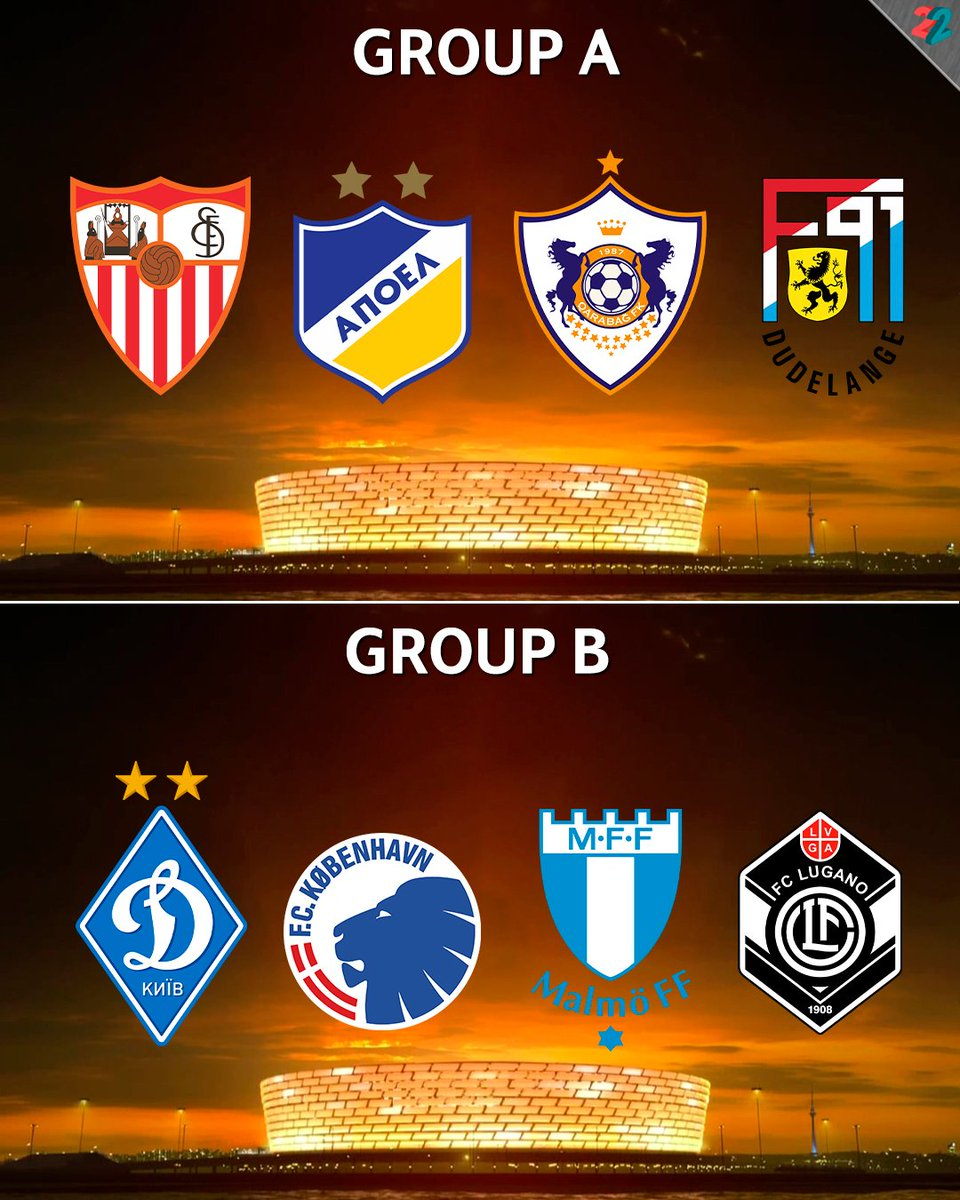 Europa League Draw Results Abcd Groups Football Fussball