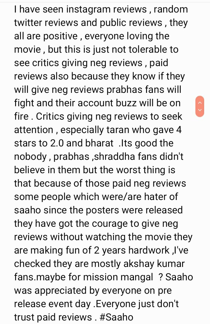 EVERYONE READ THIS (THE TRUTH)#saaho #Saahoreview #Prabhas #ShraddhaKapoor #WorldSaahoDay #SaahoFeverEverywhere #SaahoInCinemas<br>http://pic.twitter.com/4UYC1g2aJQ