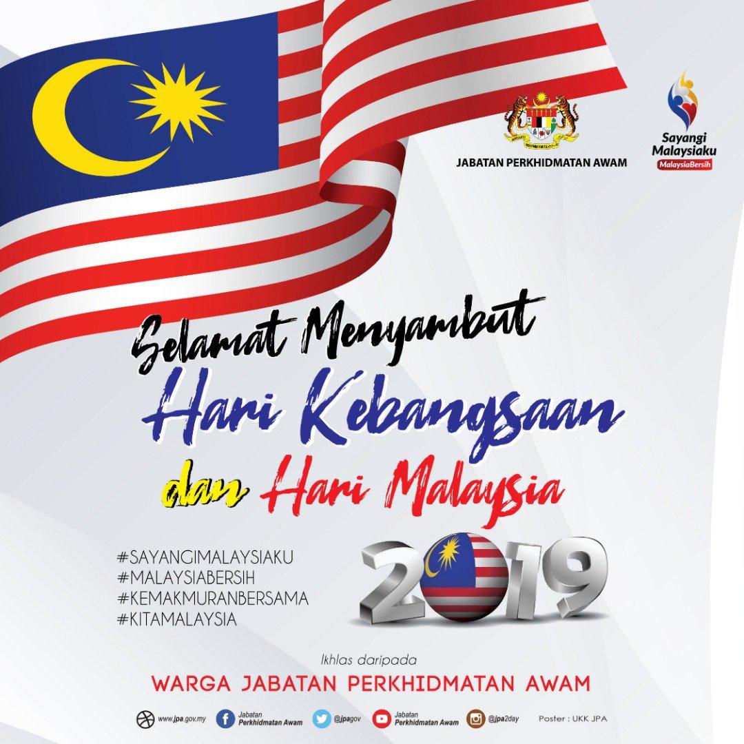 Jab Per Awam Jpa On Twitter Selamat Menyambut Hari Kebangsaan Dan Hari Malaysia Tahun 2019 Sayangimalaysiaku Malaysiabersih Kemakmuranbersama Kitamalaysia Infografikjpa Kkmm Gov Jpenerangan Jpmgov Https T Co Rlvhiv4phz