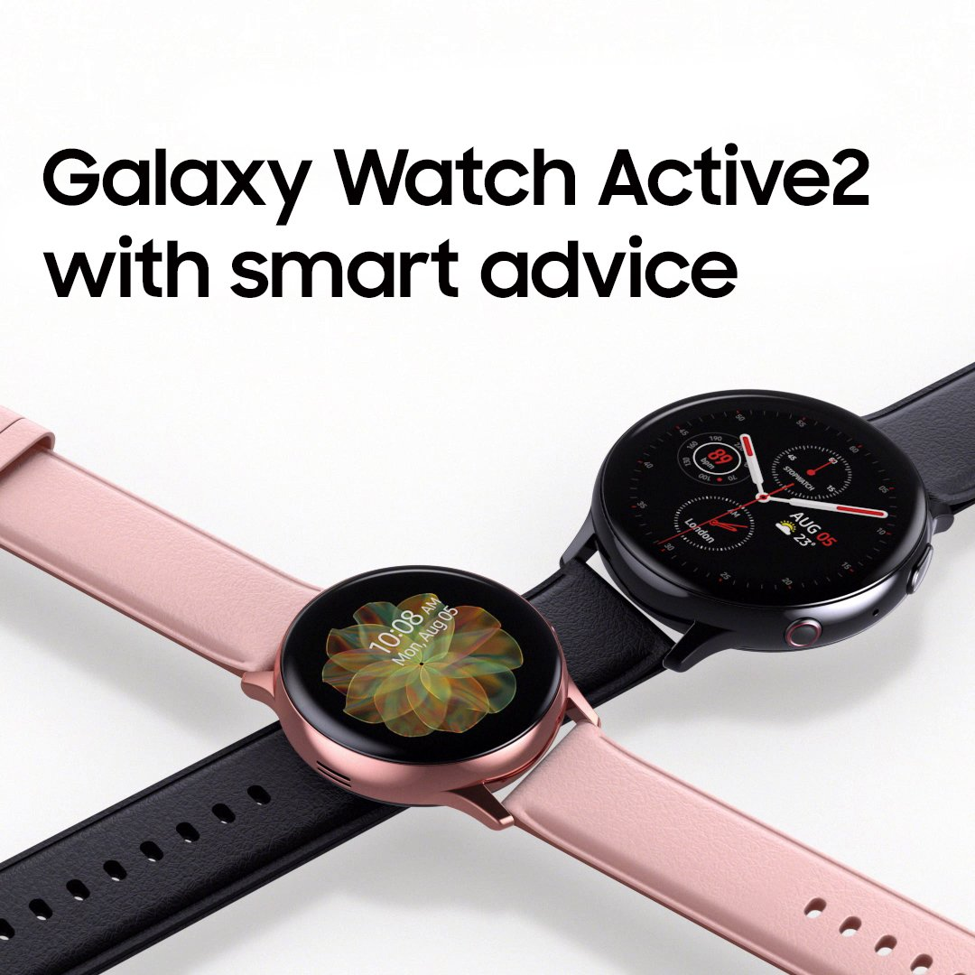 Refined and now with more sizes and materials to choose from.Galaxy Watch Active2 with smart advice.Discover more: http://smsng.co/GalaxyWatchActive2_tw…#GalaxyWatchActive2
