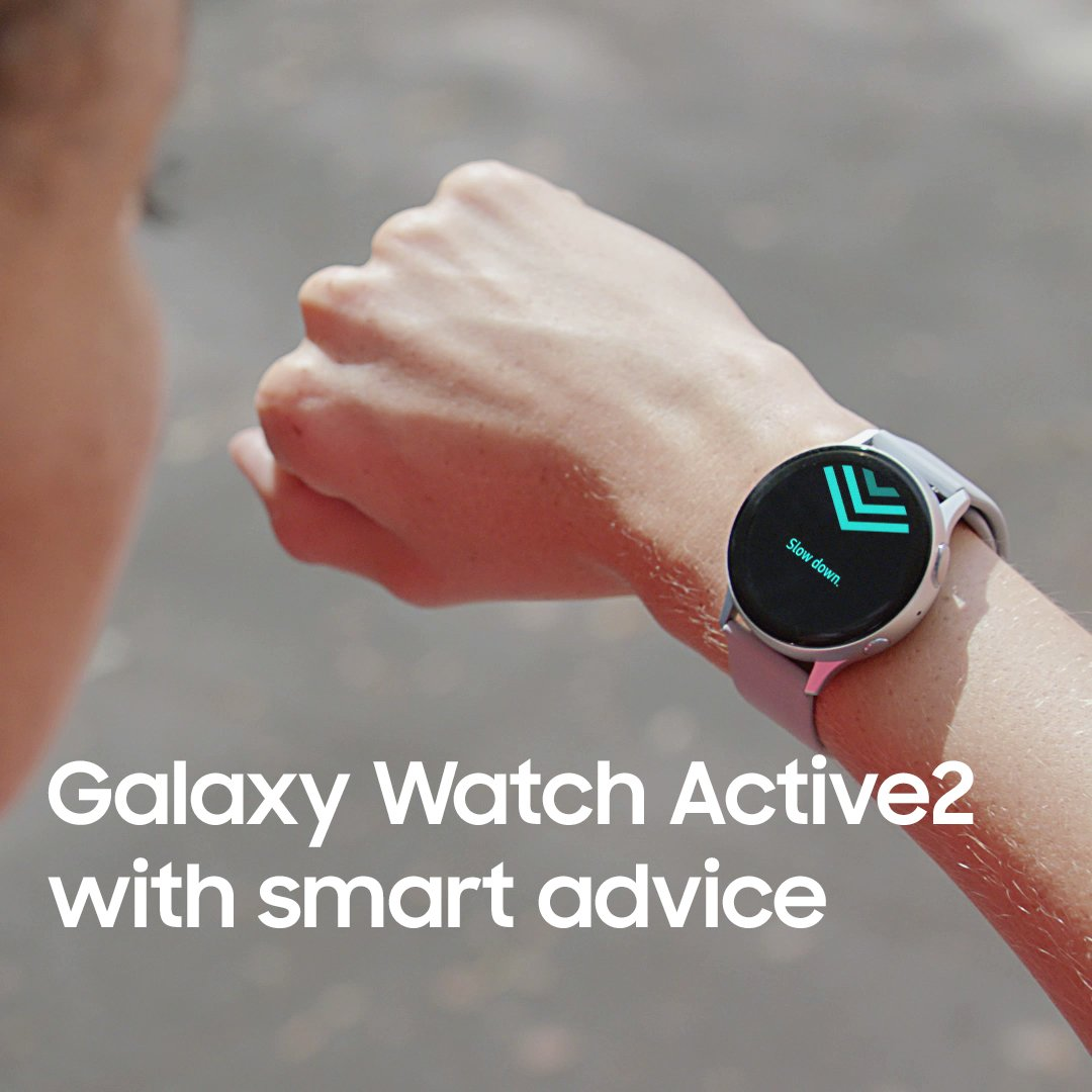 Get real-time coaching on every run.Galaxy Watch Active2 with smart advice.Discover more: http://smsng.co/GalaxyWatchActive2_tw…#GalaxyWatchActive2