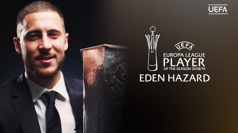 For his performances for @ChelseaFC last season, @hazardeden10 is the @EuropaLeague Player of the Season. #UELDraw