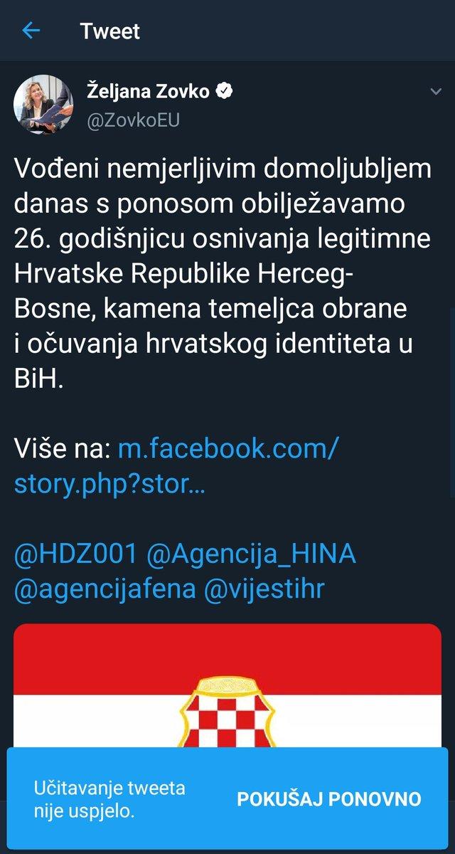 Beskičmenjaštvo i poltronstvo: Željana Zovko obrisala status EDNvUclXkAUZz_u?format=jpg&name=medium