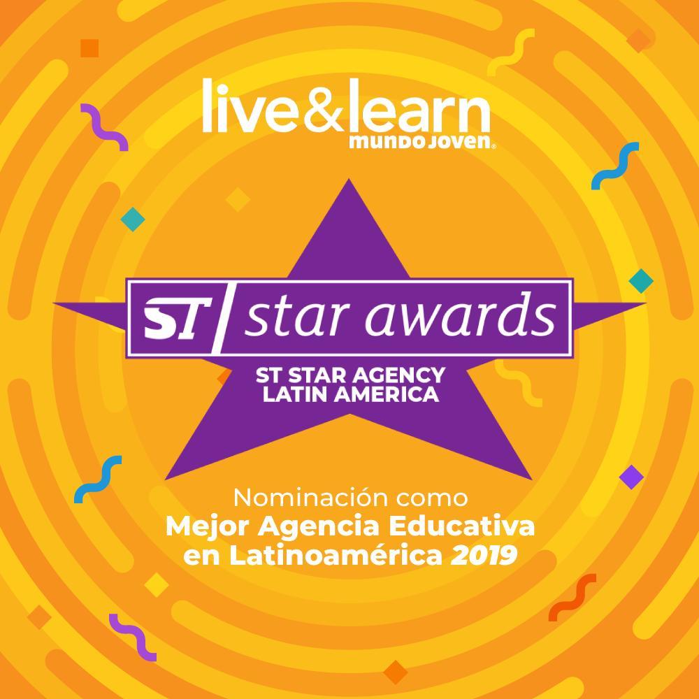 🏆 Estamos orgullosos de compartir con nuestra comunidad que Live & Learn ha sido nominada como una de las mejores agencias educativas a nivel Latinoamérica, dentro de los #STawards 2019 🏅, un reconomiento otorgado por la red mundial de agencias educativas Study Travel. 😉 https://t.co/03PhrCH25O