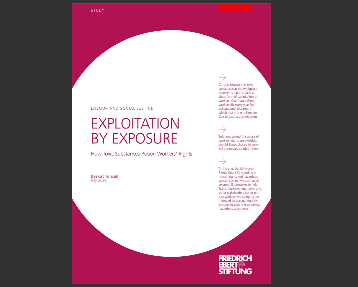 """Excited to share a new report for @FESonline - """"Exploitation by exposure: how toxic chemicals poison workers' rights""""  Solutions to end this abuse of #workers are available.  Read more here 👉 https://t.co/AFjw4fRfvJ   #toxic #chemicals #HumanRightsViolations https://t.co/k1t4clgist"""