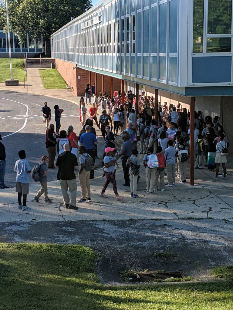 6th graders lining up for a great day @WoodlawnMS #WeAreRising @BaltCoPS @RArchelus