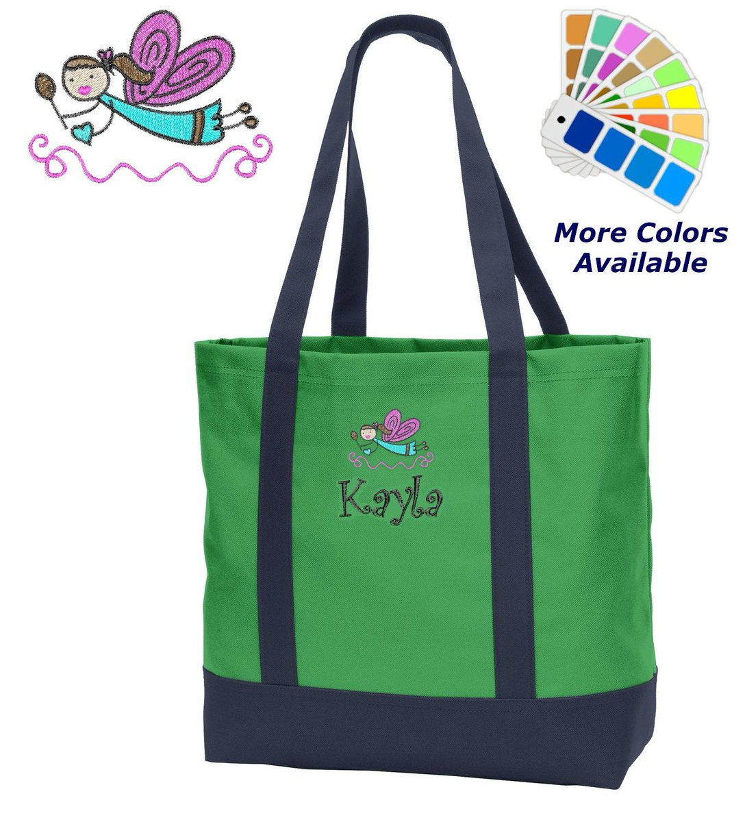 My Kids A On Twitter Personalized Tote Bag Embroidered
