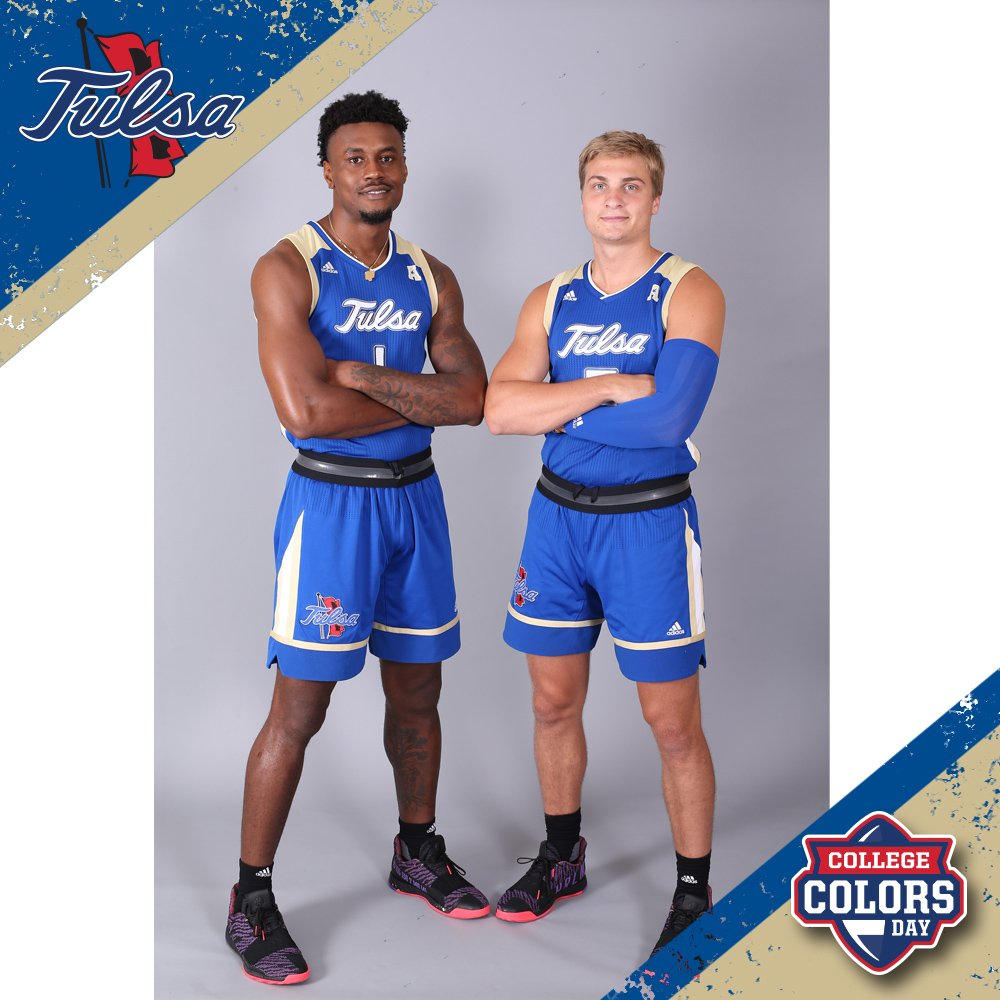 Tulsa Golden Hurricane NCAA Basketball: Happy #CollegeColorsDay TU Fans! Be sure to wear blue today and all year long as you su...