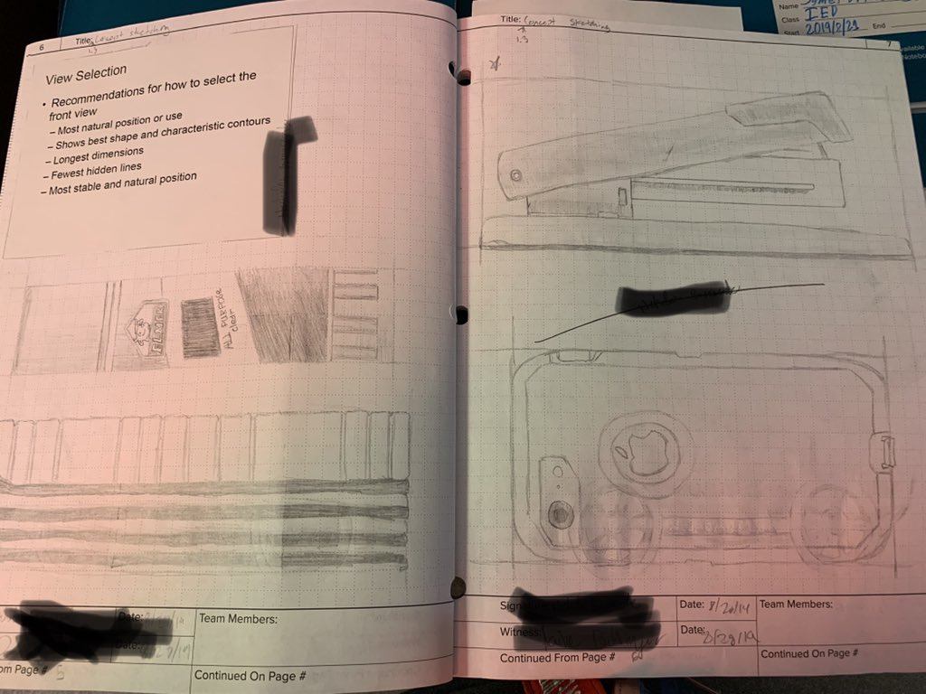 Things are getting a little shad-y (ha!). Practicing our documentation and concept sketching skills in our engineering notebooks #IED #PLTW @CHSCards https://t.co/Do5JDUEKB3