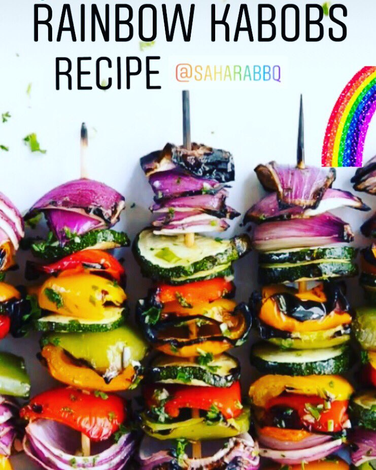 Rainbow kabobs 🌈🌈🌈🌈 -⌨️ recipe @ https://t.co/lKx6QhKweV #saharabbqs #sahara #grill #recipe #foodie #bbq #outdoors #living #dinner #veg #vegan #colours #rainbow #love #food #grilling #barbecue #RecipeOfTheDay #recipe #FridayFeeling https://t.co/K8ksVjEfzH