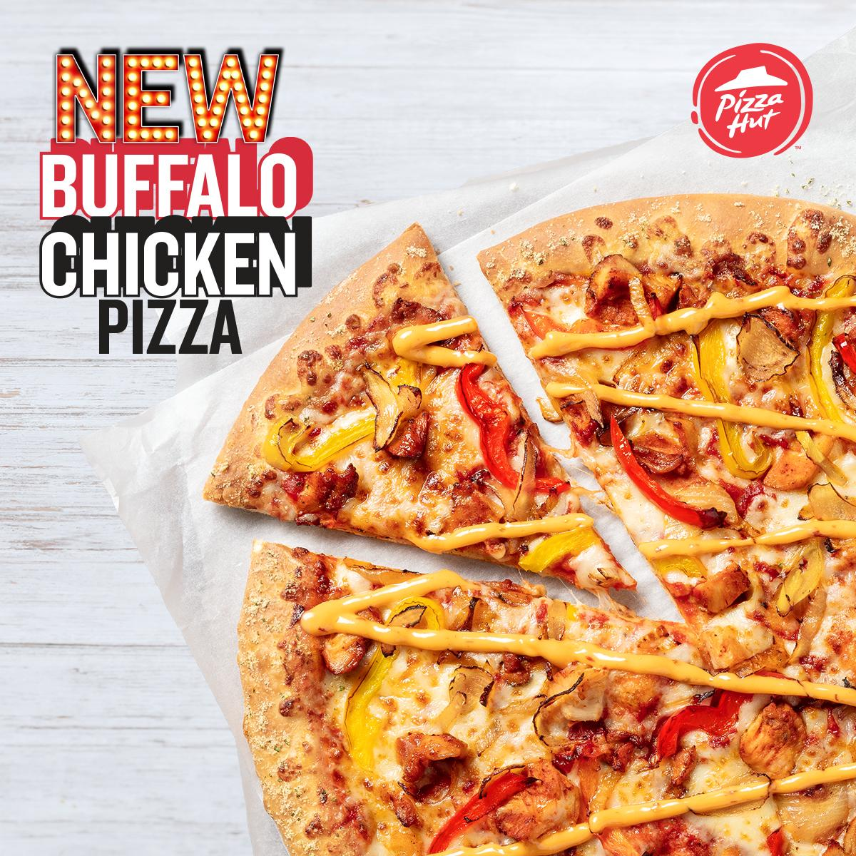 Whether you're having a movie night with your friends, or you've got the match on the TV, make sure you've got our brand new Buffalo Chicken pizza by your side this weekend 🙌 https://t.co/A78WHZSyO1