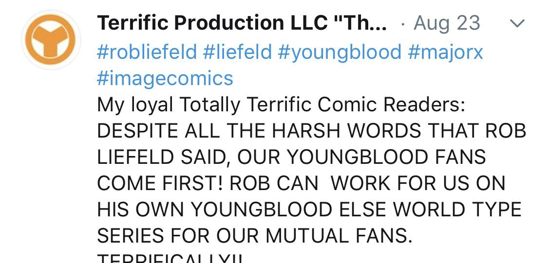 Robliefeld On Twitter So Thank You To Fans Who Continue To Share These Disparaging Tweets With Me Please Llcterrific Please Supply An Example Of Anything Harsh I Have Spoken About You Otherwise Deadpool creator rob liefeld's excited tweet to russell crowe about auditioning for cable got him in then one night before i went to bed, i didn't know russell crowe was on twitter, and i stupidly. twitter