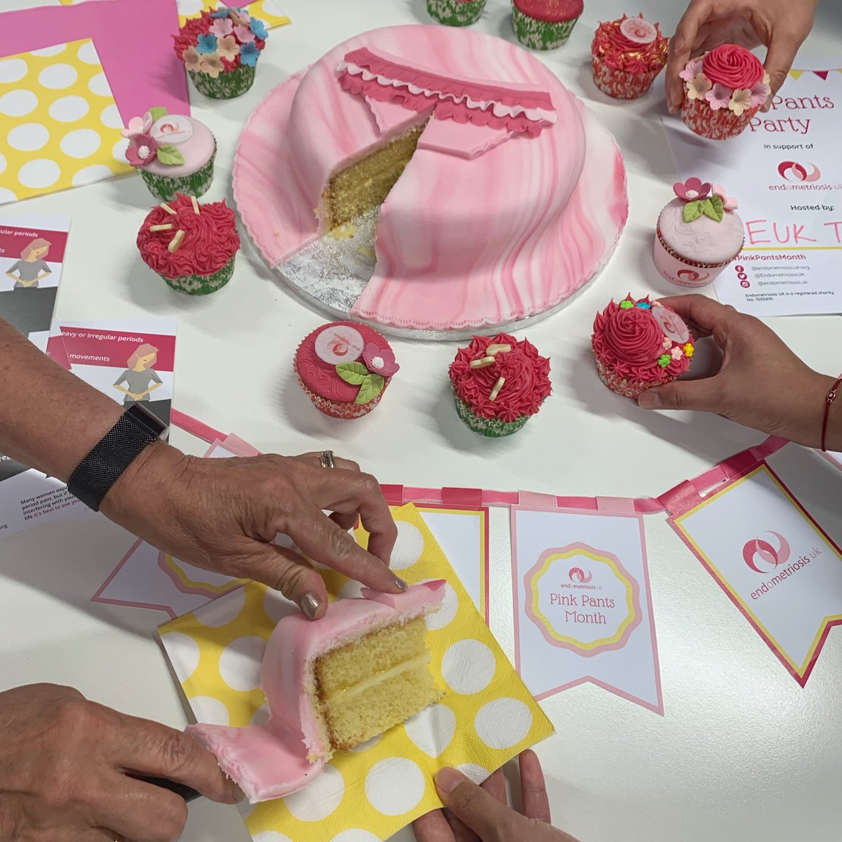 Sunday sees the launch of Pink Pants Month! 🧁 Happy party planning and baking to everyone hosting Pink Pants Parties in support of Endometriosis UK – please tag us in your photos & #PinkPantsMonth. To register for your free party pack: https://t.co/b5LOR0EeGv #endometriosis https://t.co/LAKcejcPbr