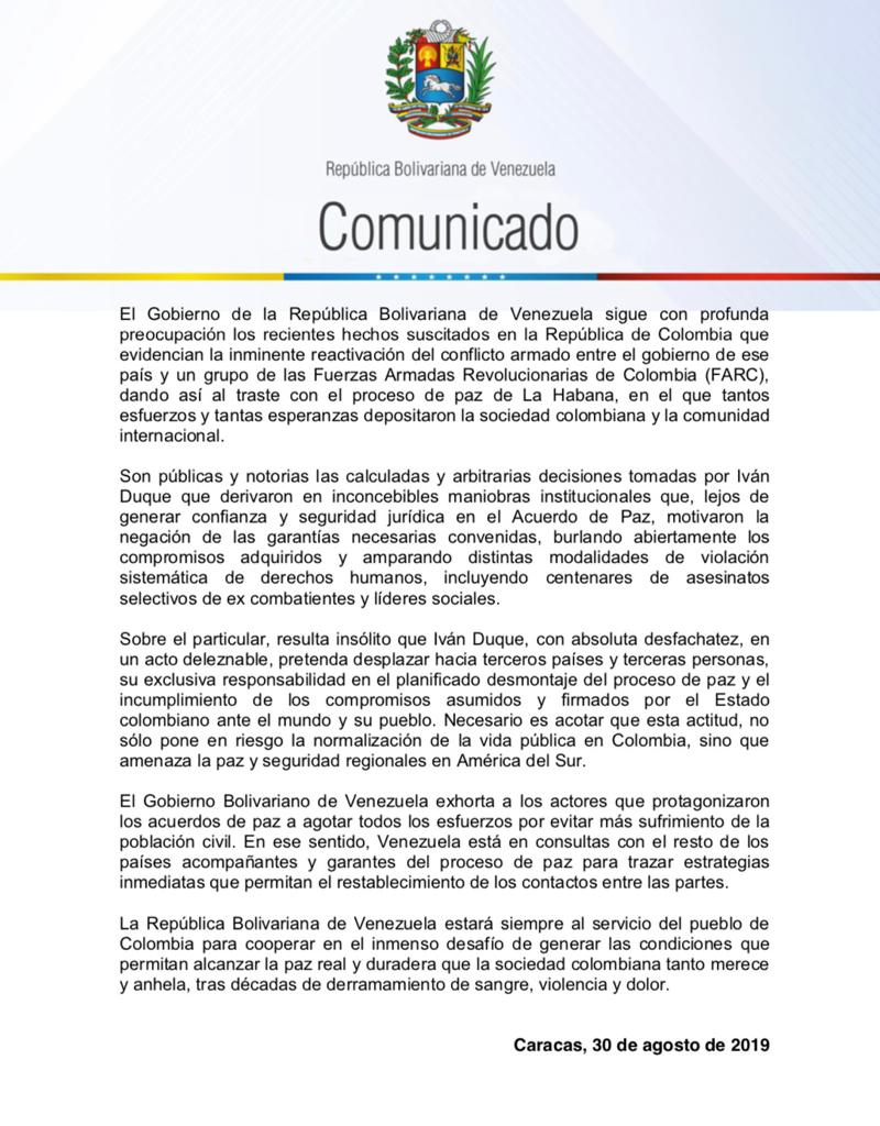 Venezuela - La conducta blanda del gobierno de Colombia condenara a muerte a millones de venezolanos  - Página 2 EDOvRJYXkAAG2Ty