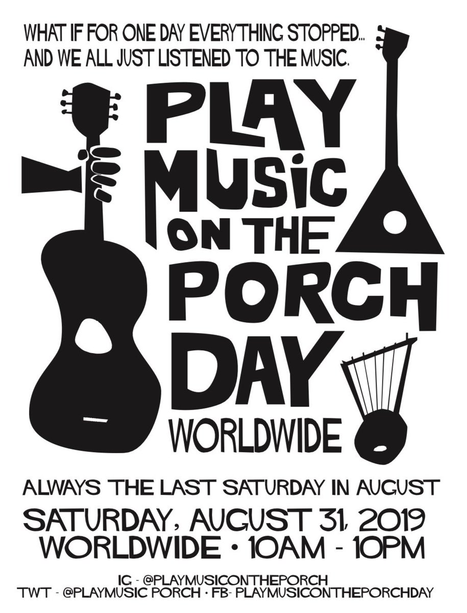 Tomorrow is #playmusicontheporchday it's that simple :) no porch required @PlayMusic_Porch<br>http://pic.twitter.com/F4bS91plAV