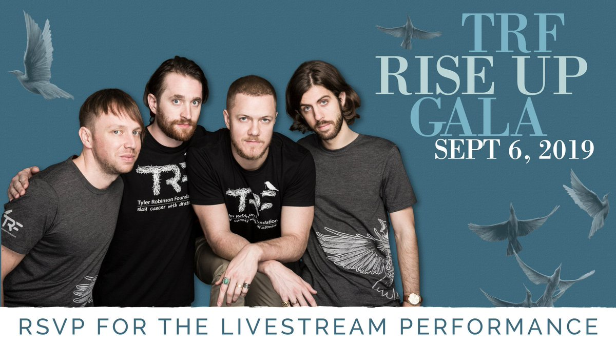If you cant join us at the #TRFGala this year, dont worry—you can tune into the exclusive acoustic @Imaginedragons performance via their Facebook page ➡️ RSVP HERE: bit.ly/2019GalaRSVP // #slaycancerwithdragons