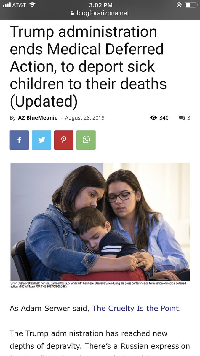 trump will soon be able to add murder to the litany of  DICKENSIAN CRIMES HE'S  ALREADY COMMITTED.WHEN HE KICKS SICK & DYING CHILDREN OUT OF USA,ITS A DEATH SENTENCE 4THEM. SOME KIDS WILL DIE IN DAYS,OTHERS IN WKS OR MONTHS.THE MEDICINE THEY NEED TO LIVE IS ONLY IN🇺🇸
