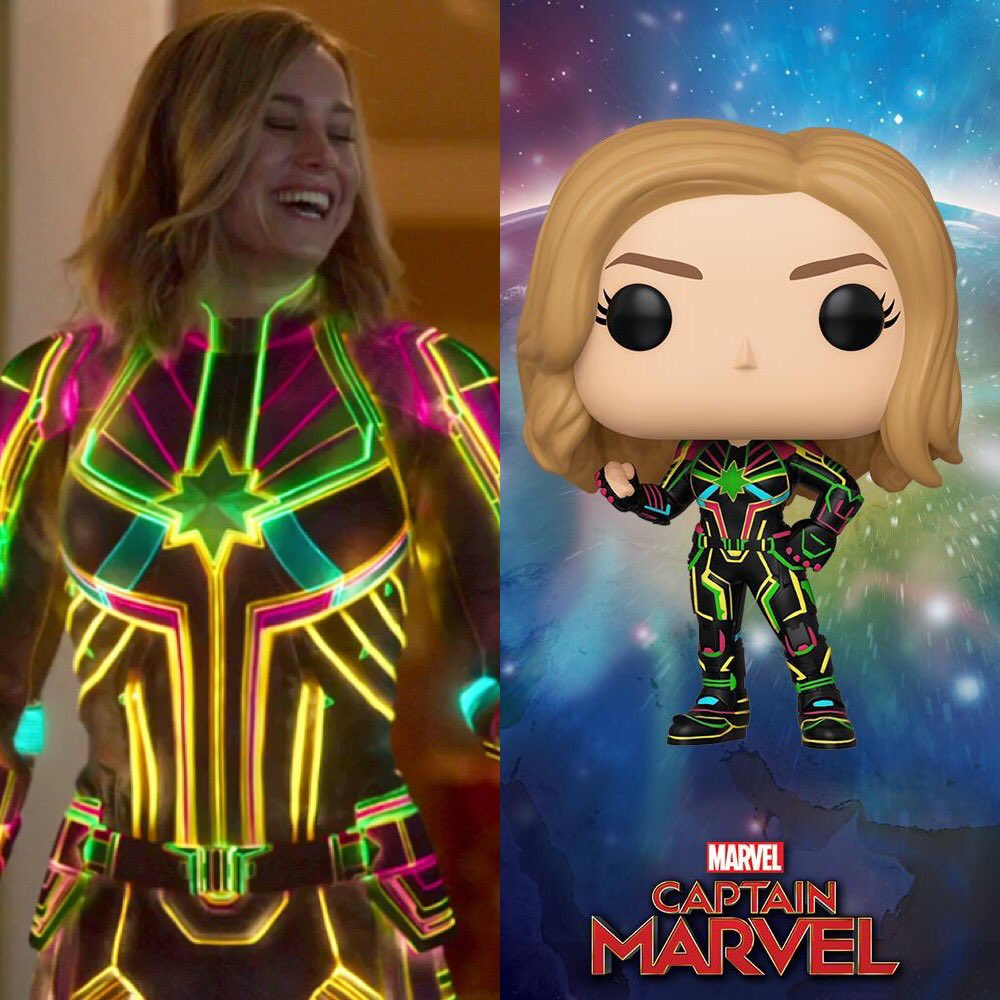 NEW #CaptainMarvel INTERNATIONAL GIVEAWAY! Win the Captain Marvel Neon Suit Funko Pop AND this dope poster by following the rules! -Follow @CaptMarvelNews -RT this Tweet!!! Winner to be announced on September 30th!!!
