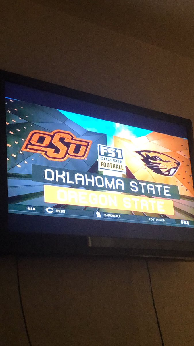 Now for the real game of the night! #SpencerSanders #TheFuture #OKSTvsORST #Okstate