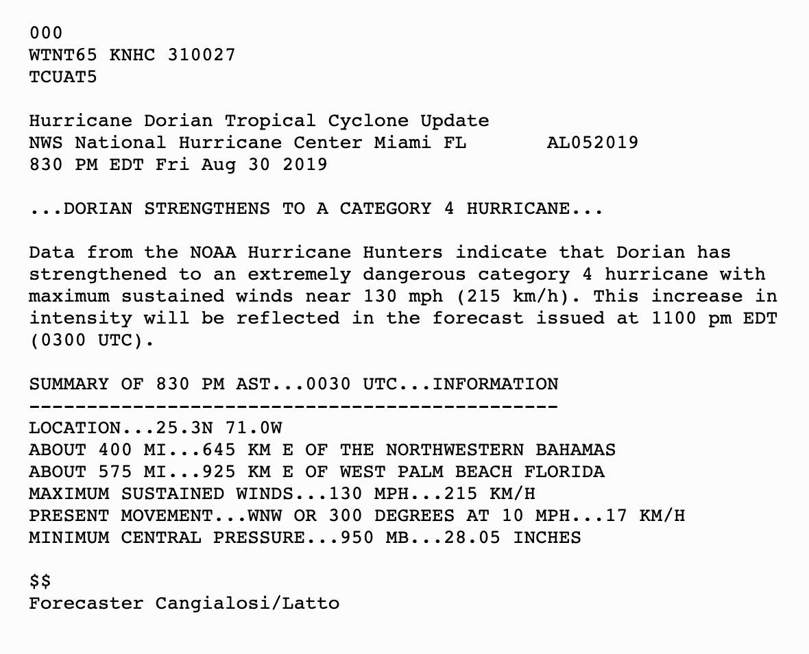 Hurricane Dorian strengthens to category 4 as Florida braces