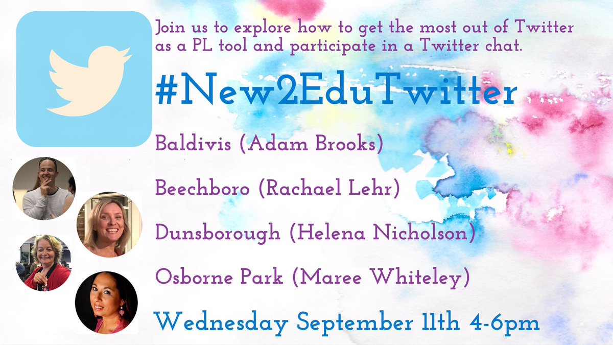 WA educators: Pls share! Learn about using EduTwitter as a PL tool & joining chats at a FREE #New2EduTwitter workshop 💥@brookssensei  https://t.co/Se0OJl0Xwh 💥@rachaellehr  https://t.co/1klfwFr4J1  💥@Helenergy_4 https://t.co/coUhYBKHwz 💥@mareewhiteley  https://t.co/GYWxKfl0pY https://t.co/LCaBCzMiDr