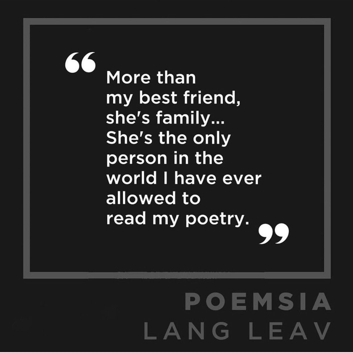 Who do you share your poetry with?