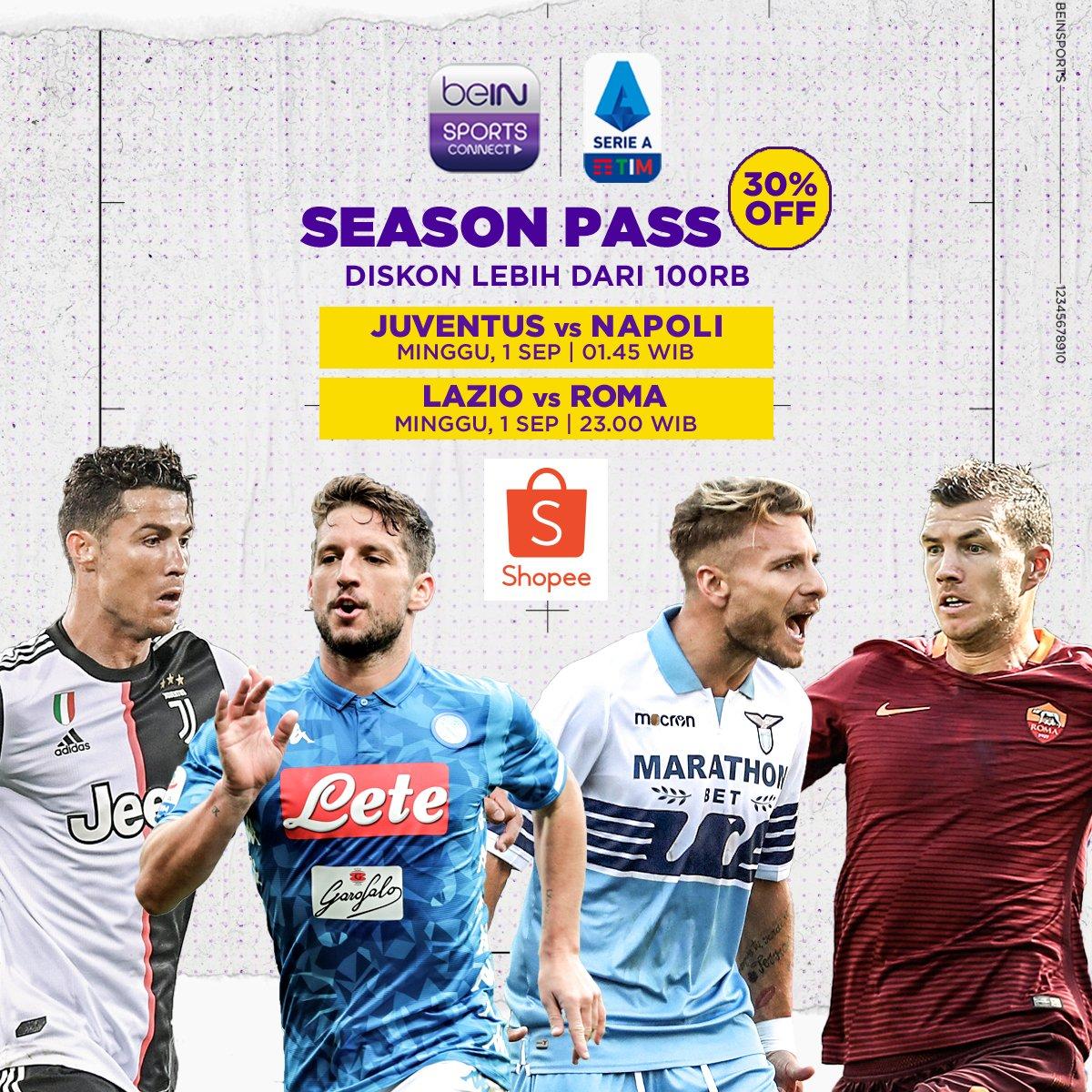 Bein Sports On Twitter Big Match Seriea Mempertemukan Juventus Napoli Dan Derby Ibukota Lazio Roma Siapa Pemenang Kedua Laga Panas Ini Saksikan Keseruannya Di Bein Sports Connect Dan Dapatkan