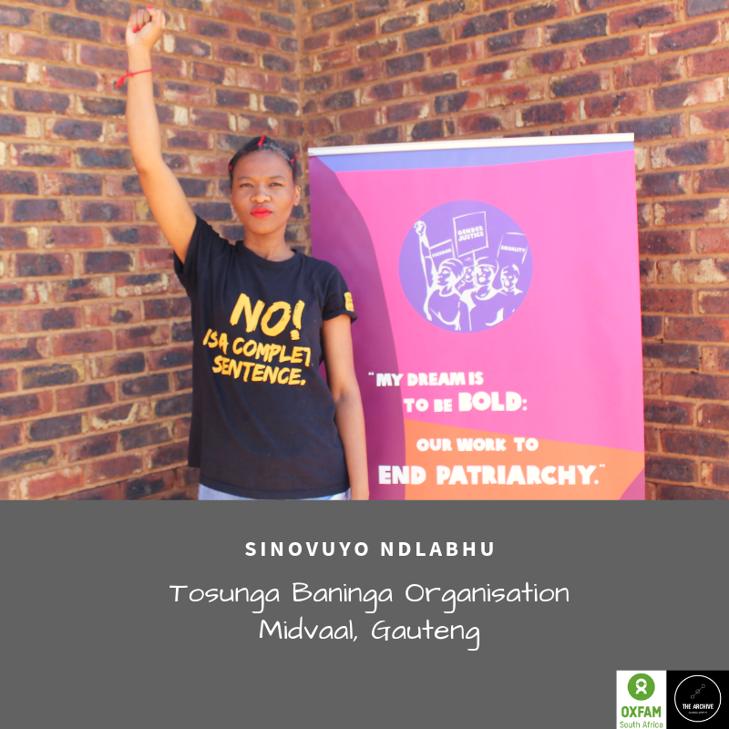 Sinovuyo Ndlabhu from Tosunga Baninga organisation says she's tired of feeling helpless and unsafe in the Vaal. She's survived two experiences of violent attacks form men in the streets, just this year alone.   #EndGBV #CommunityStrategies #CommunityPower #WomxnVSthepolicepic.twitter.com/XhUSBBxegP