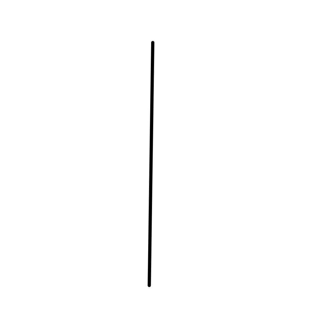Vertical line perfectly placed on the center