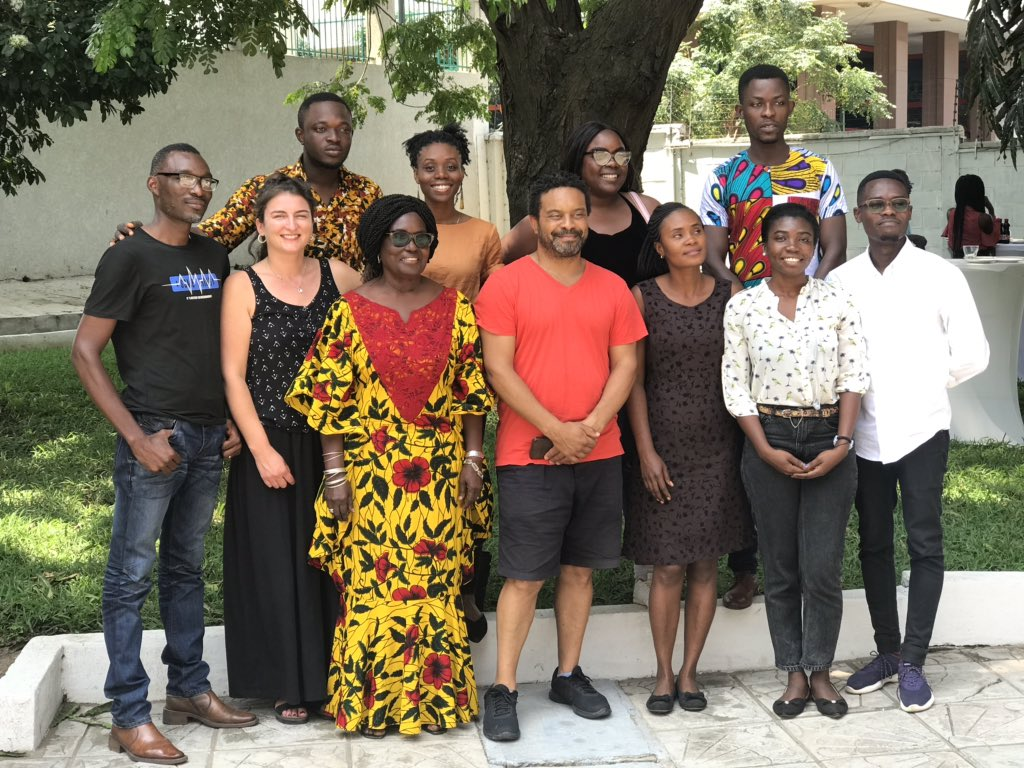 Ghana Connects Us! Great to be part of this fantastic group of illustrators & editors - looking forward to many collaborations in the future. Big thanks to @kenwilsonmax @GoldenBaobab @BritishCouncil #ibbyghana<br>http://pic.twitter.com/vg9tiWsapi