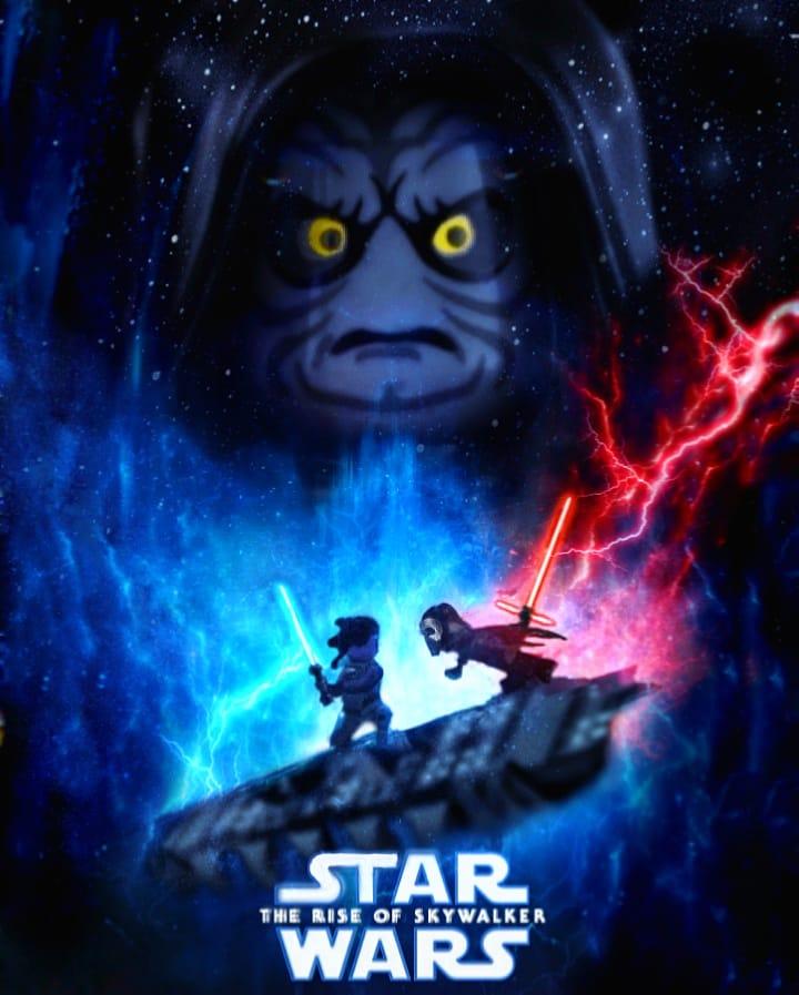 与火samfire On Twitter The Force Is Strong In My Family Luke Skywalker Starwarsix Poster Recreation In Lego Lego Legostarwars Https T Co Jipdrpnilt