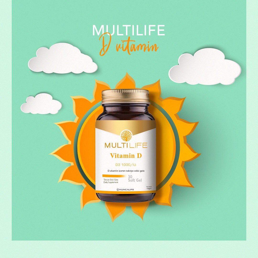 D vitamini bağışıklık sisteminin normal fonksiyonunu destekler. Sonbaharda da bağışıklık sisteminizi güçlü olması için Multilife D vitamininizi yanından ayırma! 👊🏻✨